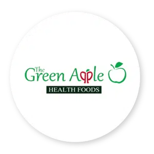 The Green Apple Health Foods Logo