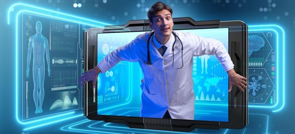 A Doctor Using Telemedicine