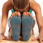 Gaiam Toeless Grippy Yoga Socks