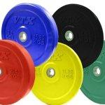 Troy VTX 260 lb Color Bumper Plate Set