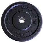 Ader Olympic Black Bumper Plates Set 4 Pair 230 Lbs