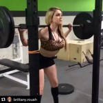 #Repost @brittany.roush Is that 145lbs squat? A good example that lifting for females don't automatically mean she-hulk or bulky.
