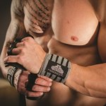 Bear Grips: Premium Extra Strength Wrist Wraps, Best Wrist Support, Wrist Brace, Crossfit Wrist Wraps, Weight Lifting Wrist Wraps and Wrist Straps for Workouts, Wods. Grey Series. 12″,18″, 24″