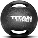 Titan Fitness Dual Grip Medicine Ball Rubber Muscle Driver Sport Double
