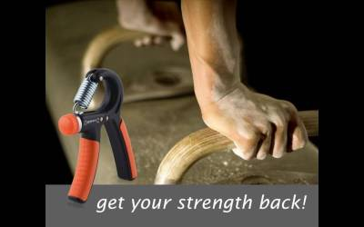 Kootek 2 Pack Hand Grip Strengthener Strength Trainer Adjustable Resistance 22-88 Lbs Arm Hand Exerciser Non-slip Gripper for Athletes Pianists Kids