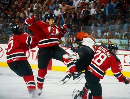 When Lindros got levelled, it was the start of a downward slide on this formerly dominating player. (totalprosports.com)