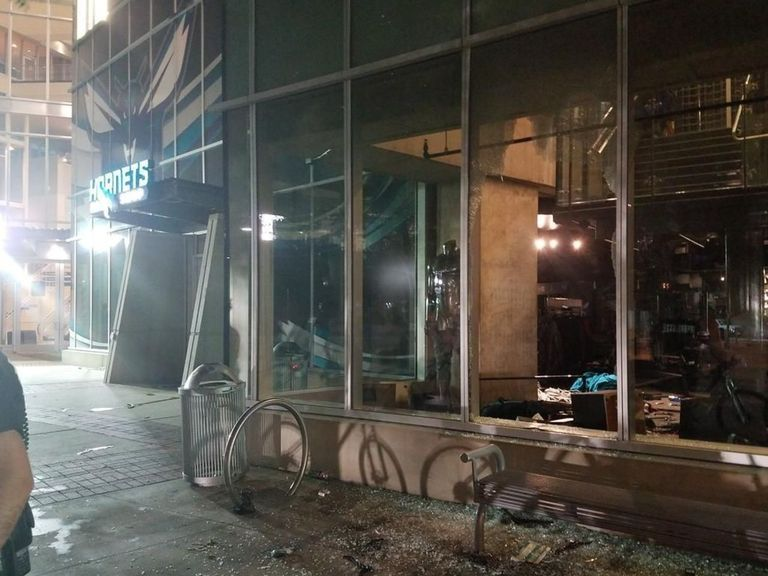 Hornets Team Store Looted During Charlotte Riots Total