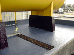 Dike with Vinyl Resin - Industrial Buildings - Total Restoration Services