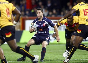 William Barthau carries the ball for France against PNG