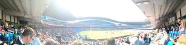 A great panoramic shot of the Etihad!