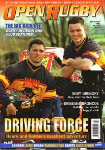 #215 Feb 1999 - Last issue published as 'Open Rugby'
