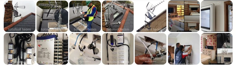 aerial tv installation slider