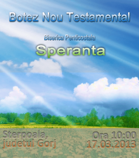 Botez nou Testamental Sterpoaia