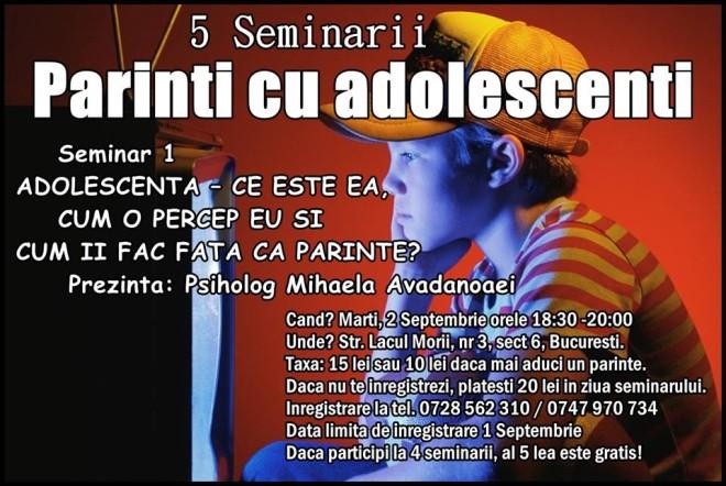 seminar adolescenti