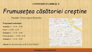 Photo of Frumusețea căsătoriei creștine – conferință la București