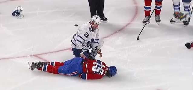 George Parros Knocked OUt