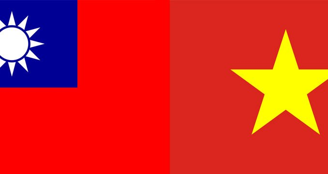 taiwan vietnam flags