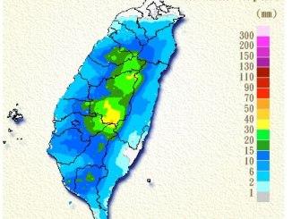 Taiwan Precipitation map