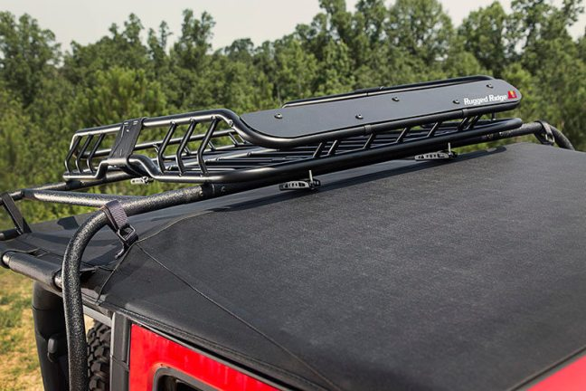 Rugged Ridge (11703.03) Spartacus Roof Rack Basket with Wind Deflector