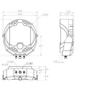Baja Designs LP9 Pro LED Driving/Combo Light 320003