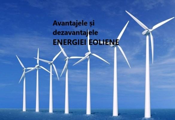 AVANTAJELE SI DEZAVANTAJELE ENERGIEI EOLIENE