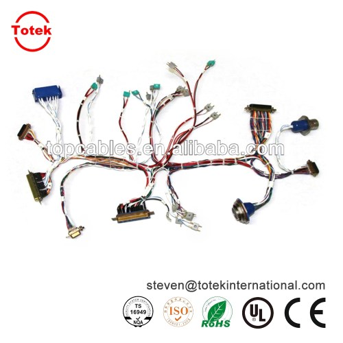 small resolution of  automotive wire harness and cable assembly with amp molex and jae connectors