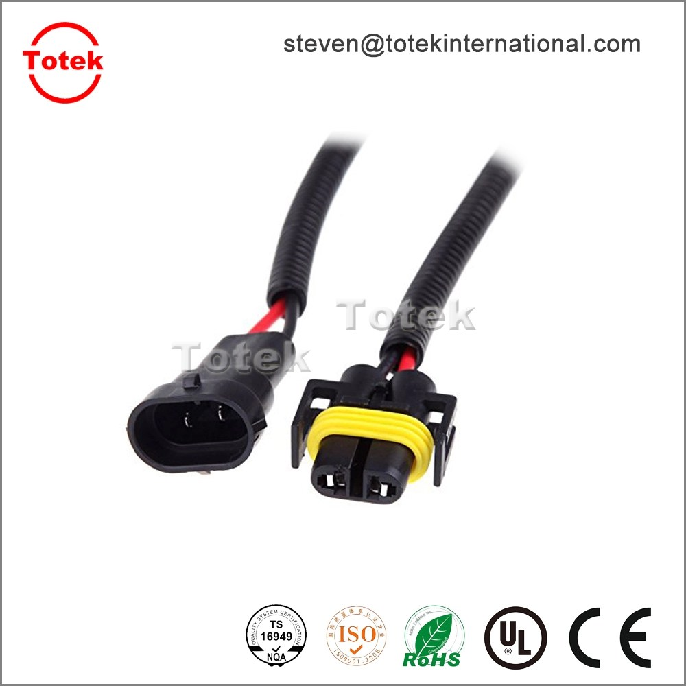 hight resolution of  2pin h8 h9 h11 wiring harness socket wire connector plug adapter for automotive led foglight head