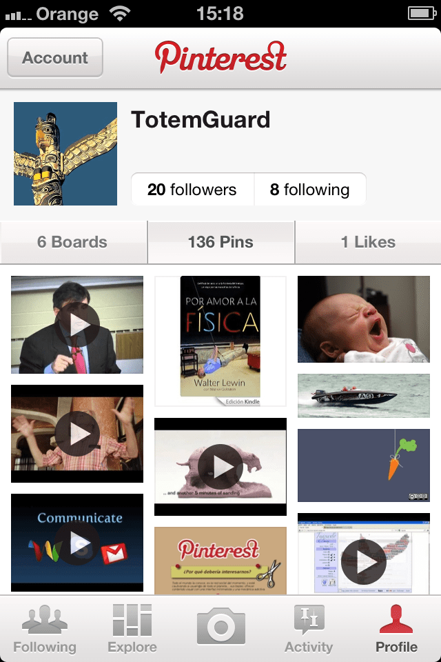 Pinterest en iPhone TotemGuard