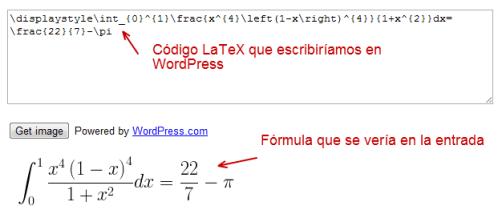 formula matematicas en wordpress