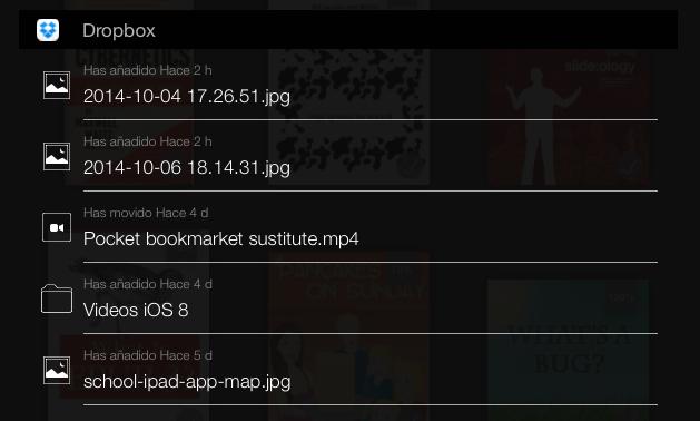 widget ios 8 dropbox