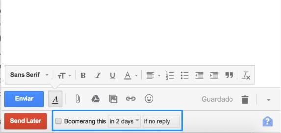boomerang para gmail
