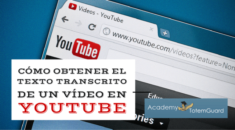 Descargar subtitulos youtube