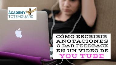 Escribir anotaciones video youtube