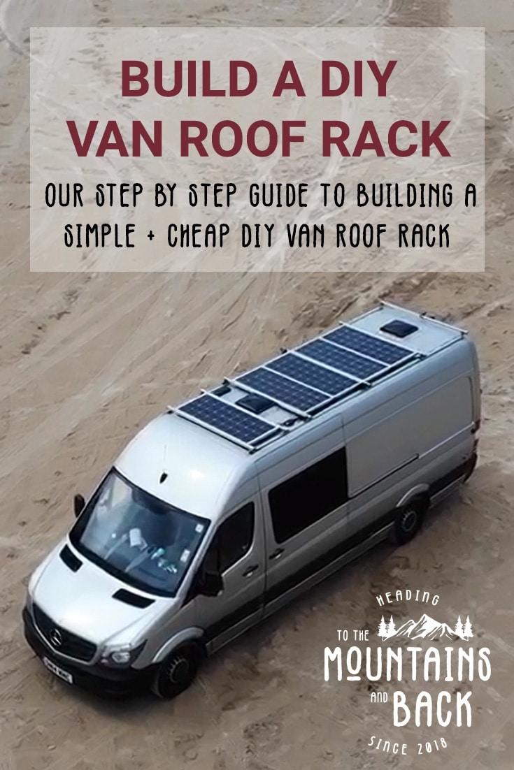 how to build a diy van roof rack to