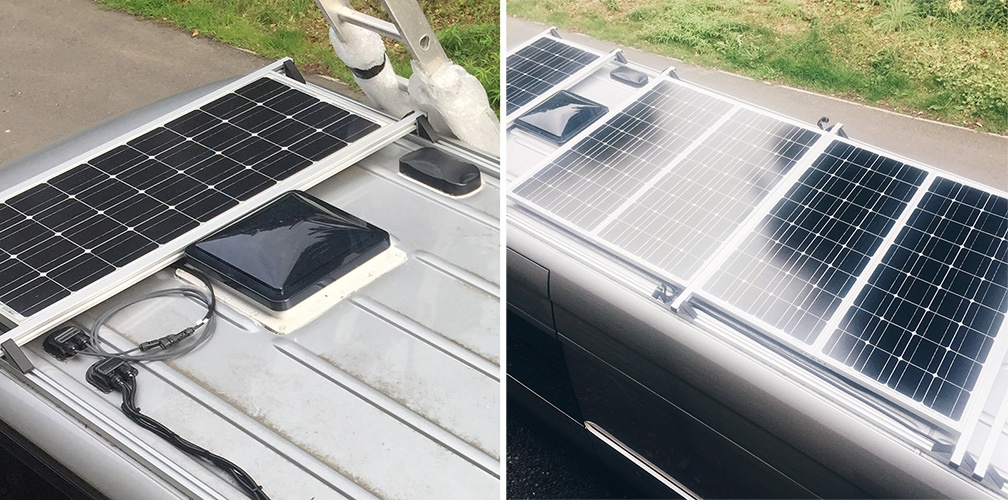 Van Roof Rack Solar Panels