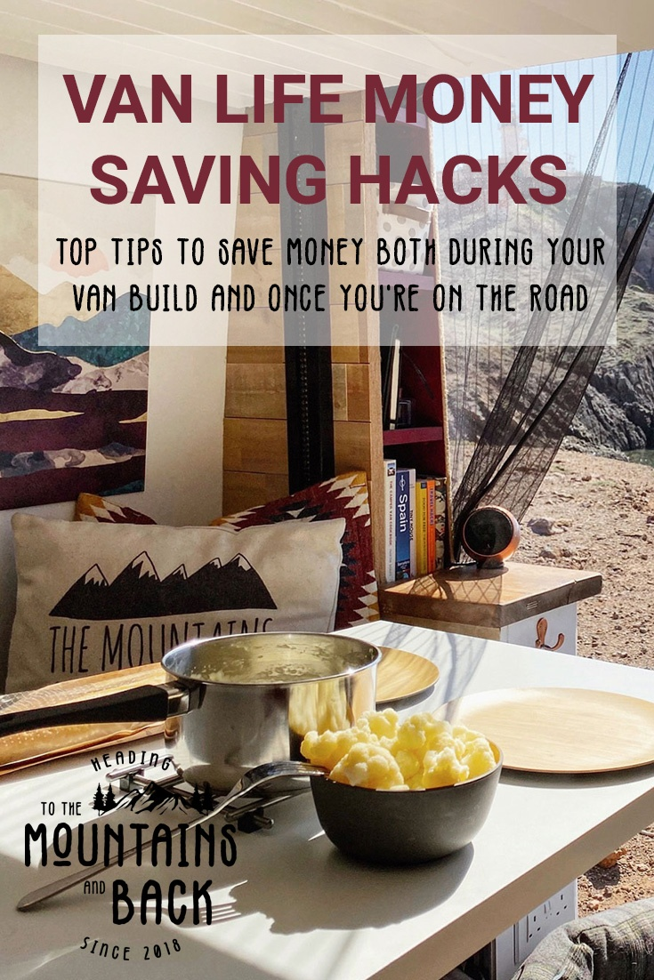 Pin Van Life Money Saving Hacks