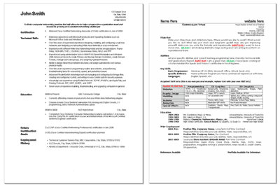 Free Resume & CV Templates In MS Word Format