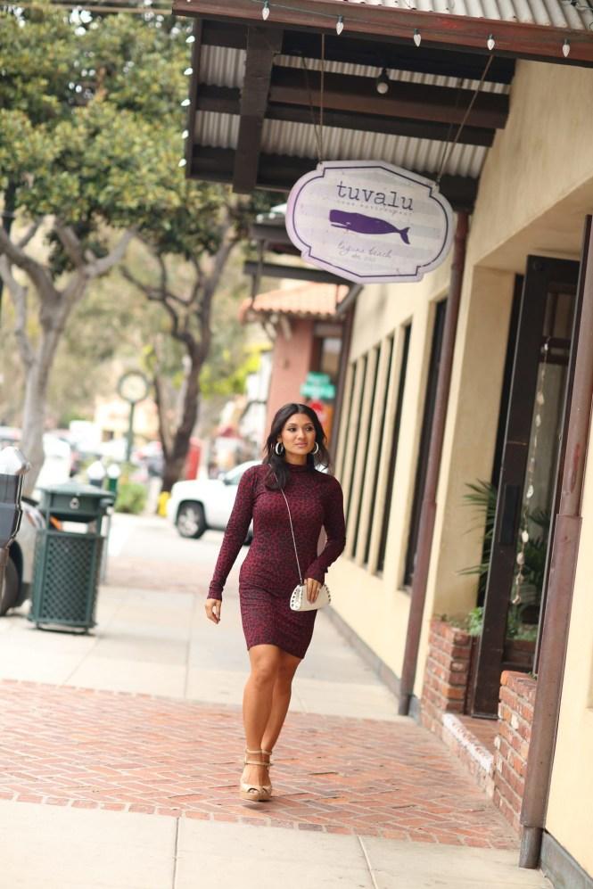 Debbie-Savage-Animal-Print-Bodycon-Dress-Laguna-Beach-3