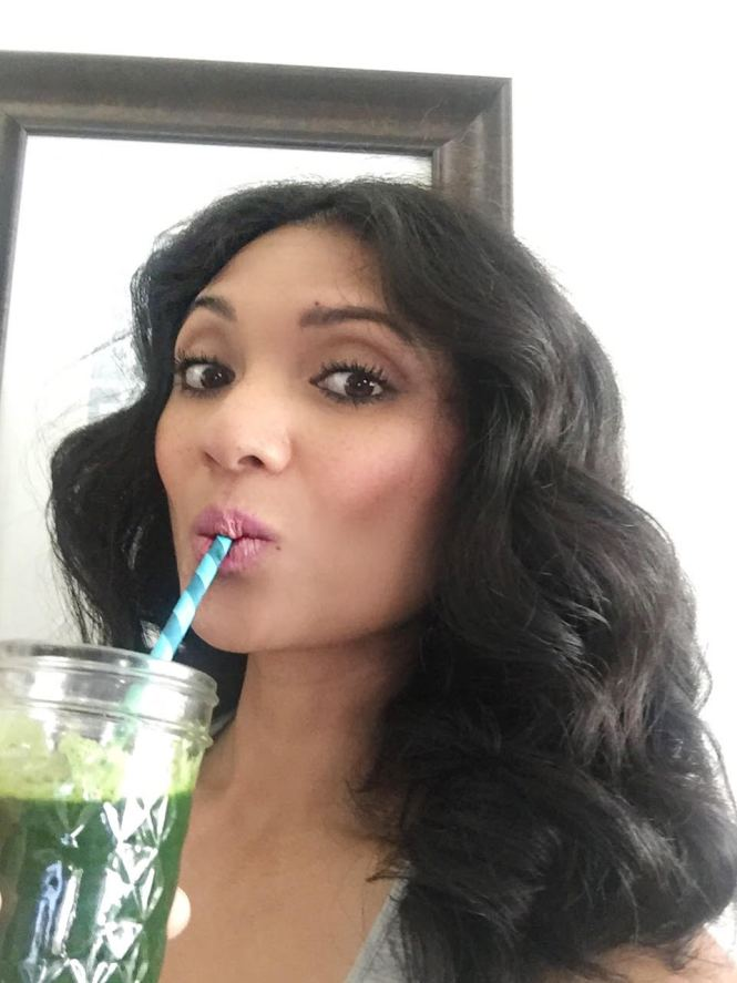 Cheers for nourishing your body with green juice! Everything taste better with a cute straw!