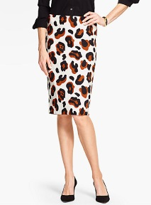debbie-savage-talbots-abstract-animal-print-pencil-skirt