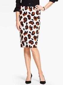debbie-savage-talbots-abstract-animal-print-pencil-skirt