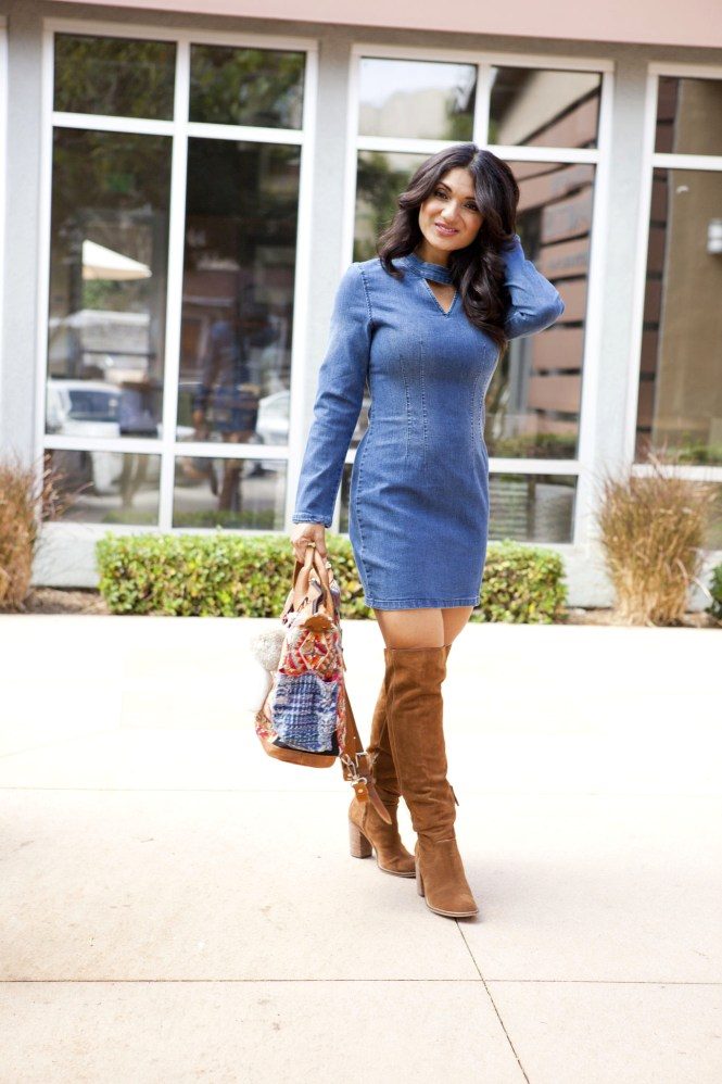 tothineownstylebetrue-denim-dress-style-4