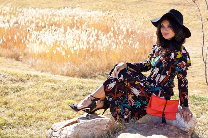To Thine Own Style Be True | Black Floral H&M Dress