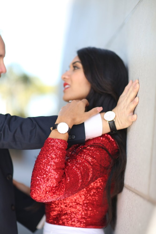 Debbie Savage of To Thine Own Style Be True and her husband Albert modeling The Daniel Wellington Watch Collection