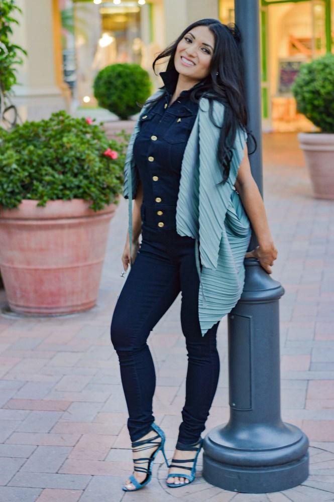 Dark Wash Denim Jumpsuit on To Thine Own Style Be True