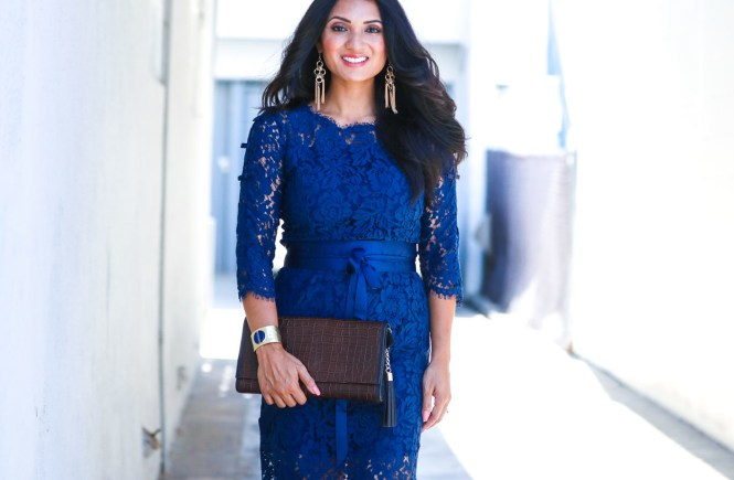 Elegant Lace + Royal Blue = Happy with StyleWe