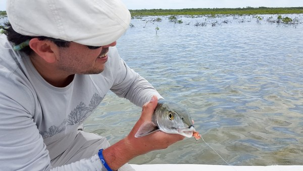 Fly fishing en Cozumel 41