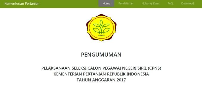 Pengumuman Hasil Tes CAT SKD Seleksi Kompetensi Dasar Kementerian Pertanian Kementan