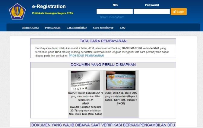 Jadwal PendaftaranSTAN Secara Online PKNSTANtahun 2018, Jadwal penerimaan mahasiswa STAN 2018, Cara pendaftaran STAN.