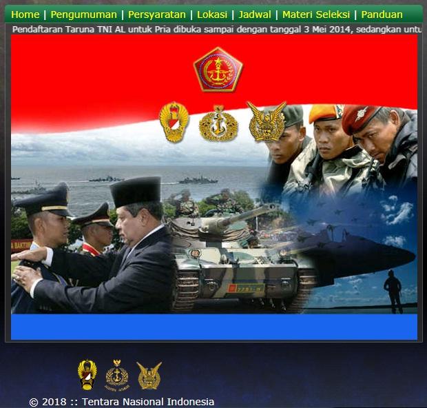 Penerimaan Calon Bintara Pria/Wanita PK TNI AL Gelombang 1 Tahun 2018, Pedaftaran Calon Bintara TNI AL Tahun 2018